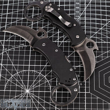 "Load image into Gallery viewer, BOGO OFFER: Buy One Get One! Karhawk K03 Folding Karambit Knife 2.35"" Satin Blade with Black G10 Handle"