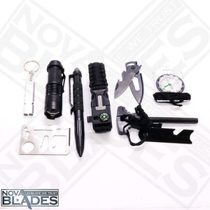 SKX21 Survival Kit Outdoor SOS Emergency Equipment Tool Supplies