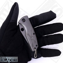 Load image into Gallery viewer, F114 Mini Folding Utility Knife Grey Titanium Surface