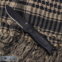 Load image into Gallery viewer, GB-1500 Serrated Blade Fixed Blade Knife with Modular Sheath