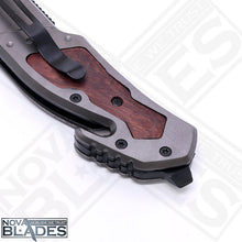 Load image into Gallery viewer, BR X42 Quick Opening Folding Knife with Belt Cutter and Emergency Glass Breaker