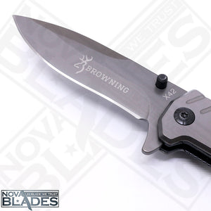 BR X42 Quick Opening Folding Knife with Belt Cutter and Emergency Glass Breaker