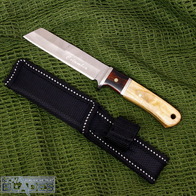 SANJIA K93 Outdoor Straight Fixed Blade Tanto Knife with Nylon Sheath