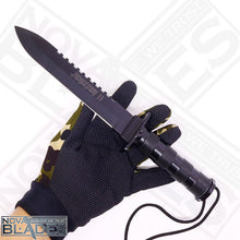 Load image into Gallery viewer, JK II Jungle Survival Kit Knife Satin Plain Blade, Molded Polyamide Sheath Plus Survival Kit