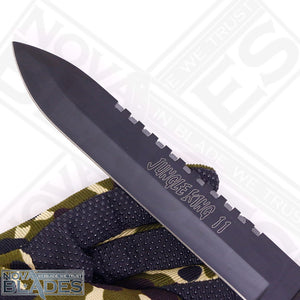 JK II Jungle Survival Kit Knife Satin Plain Blade, Molded Polyamide Sheath Plus Survival Kit