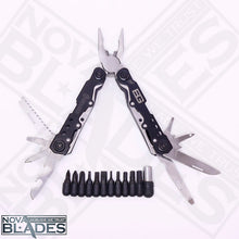 Load image into Gallery viewer, BG36P  Multi Tool Folding Combination Pliers Knife Metal Screwdriver Kit (Black)
