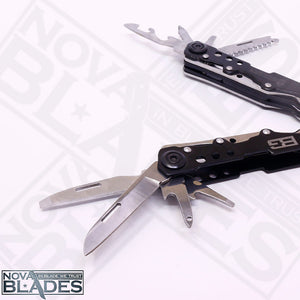 BG36P  Multi Tool Folding Combination Pliers Knife Metal Screwdriver Kit (Black)