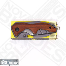 Load image into Gallery viewer, X70 Mini pocket Knife Small Size EDC Wooden Handle