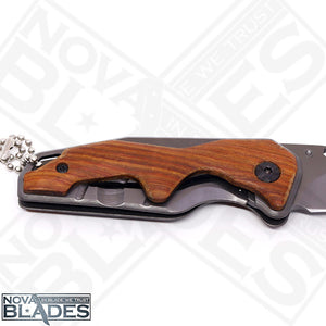 X70 Mini pocket Knife Small Size EDC Wooden Handle