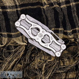 JL-06A Silver Stainless Multifunctional Camping Hunter Knife / Pocket Knife