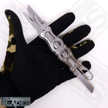 Load image into Gallery viewer, JL-06A Silver Stainless Multifunctional Camping Hunter Knife / Pocket Knife
