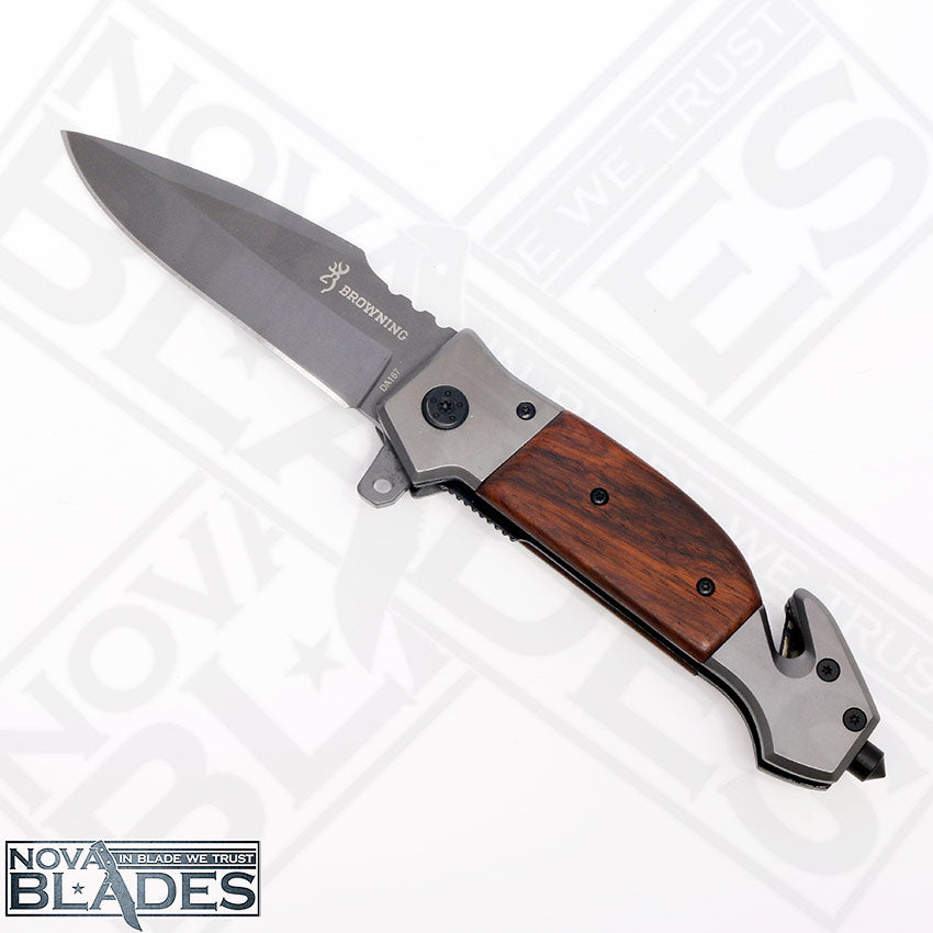 DA167 folding Knife with Built-in Belt Cutter, Glass Breaker