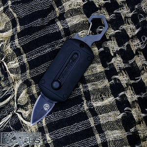 SR56B Mini Pocket Sliding Knife Carabiner Double Blade Mini Knife