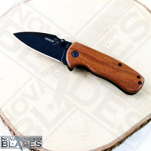 Load image into Gallery viewer, DA66 EDC Mini Folding knife with Wood Handle