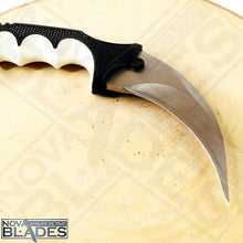Load image into Gallery viewer, karambit Knife with Black/White Combi handle Stainless Steel Blade