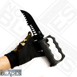 12 inches COL-KP017 Combat Trailing Point Blade Survival Knife With Fire Starter