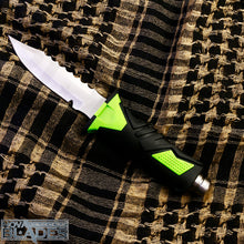 Load image into Gallery viewer, Dk169 Diver's Knife High-Quality Tactical, Stainless Fixed Blade Knife (Green)