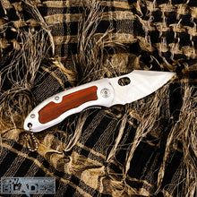 Load image into Gallery viewer, BR F113 Steel Pocket Folding Knife Wood/Steel Handle