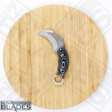 Load image into Gallery viewer, Karambit Fixed Blade  knife Scorpion Claw AUS-8A Blade Micarta Handle
