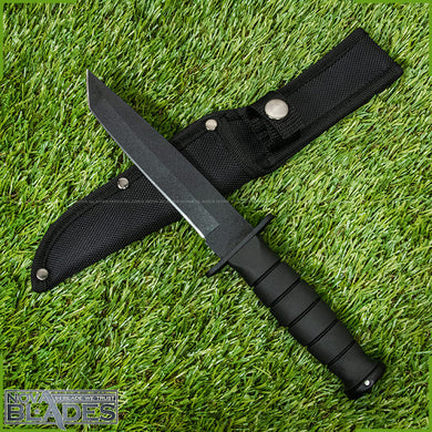 MT-113 Fixed Blade Tanto Straight Survival Knife with Nylon Sheath