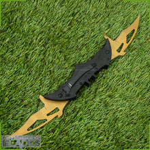 "Load image into Gallery viewer, Batman Knife Dual Blades Folding Knife Spring Assisted Blades 11"" Aero Style Blade"