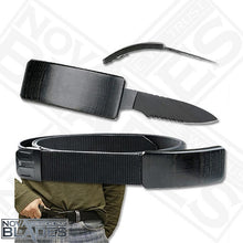 Load image into Gallery viewer, DV01 - Knife / Belt Buckle Knife Half serrated blade