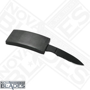 DV01 - Knife / Belt Buckle Knife Half serrated blade