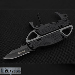 SR278 Knife, Bottle and Wine opener tool and Carabiner Multi-tool