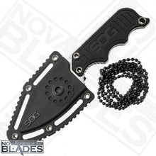 Load image into Gallery viewer, G10 Handle Instinct Mini Knife 1.9 Inch Full Tang w/ Sheath and Neck Chain