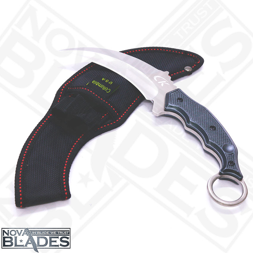 Sanja Karambit chrome-plated carbon steel Knife with Nylon Sheath