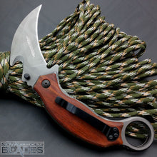 Load image into Gallery viewer, X52 Folding Karambit Knife with Wood Handle