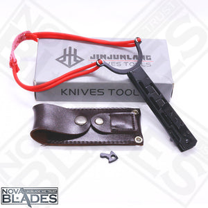 JL-17B Knife And Slingshot 2 IN 1 Tool With 3CR13 Stainless Steel Blade