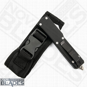 Model ML4 Automatic (Non-Serrated) Double Blade Automatic Knife with Nylon Sheath