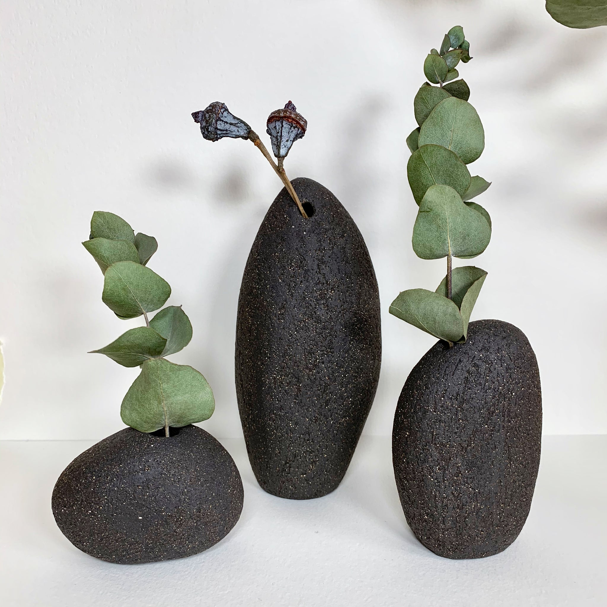 Pebbles vases - Set of 3