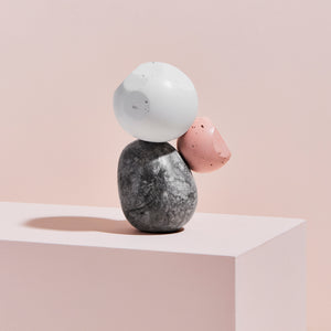 Standing White & Pink, One-of-a-Kind Sculpture MONOMIO Exclusive