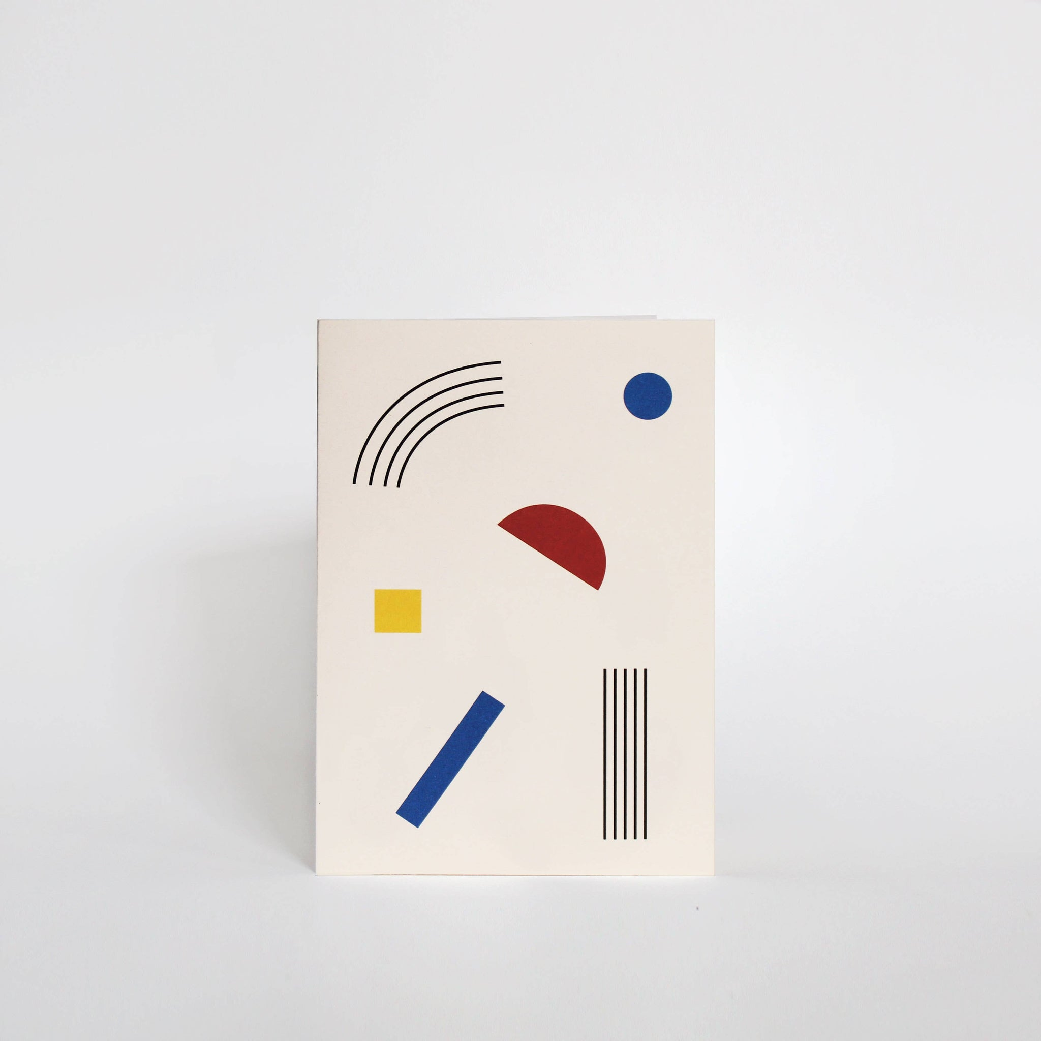 Primary Colors Greeting Card Set of 5