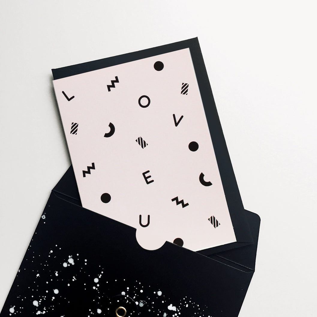 Confetti Love You Greeting Cards