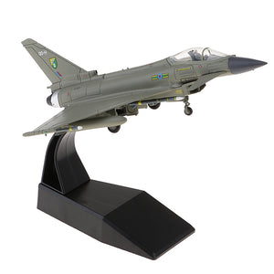 1/100 Diecast Fighter EF-2000 Eurofighter Typhoon Aviation Airplane Craft Home Decors
