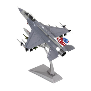 1/72 Diecast Fighter Jet F16D Fighting Falcon Airplane Model Building for Home Office Decor