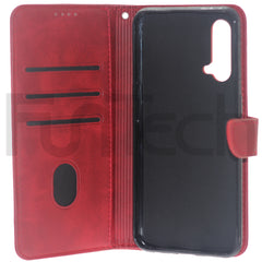 OnePlus, Nord CE 5G Lite, Leather Wallet Case, Color Red.