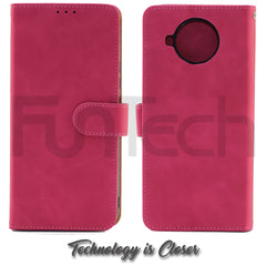 Nokia 8.3, Leather Wallet Case, Color Red,