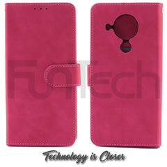 Nokia 5.4, Leather Wallet Case, Color Red,