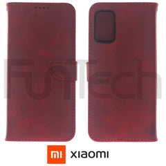 Xiaomi Redmi Note 10, 5G, Leather Wallet Case, Color Red.