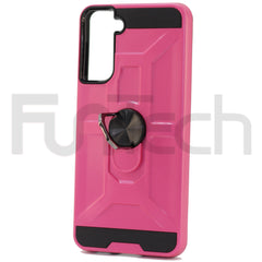 Samsung S21 Plus Ring Armor Case, Color Pink