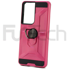 Samsung S21 Ultra, Ring Armor Case, Color Pink