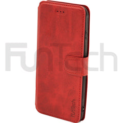 Apple iPhone 7 Plus Wallet Leather Case Red