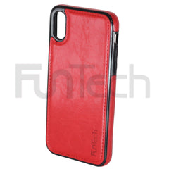 Apple iPhone X & XS Leather Back Cover Case