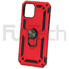Apple iPhone 12 Pro Max Ring Armor Case Red