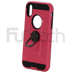 Apple iPhone XR Ring Armor Case Pink