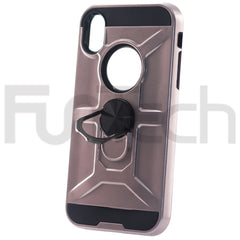 Apple iPhone XR, Ring Armor Case, Color Rose Gold.